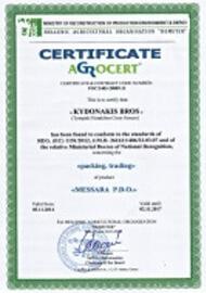 PDO Messara certificate