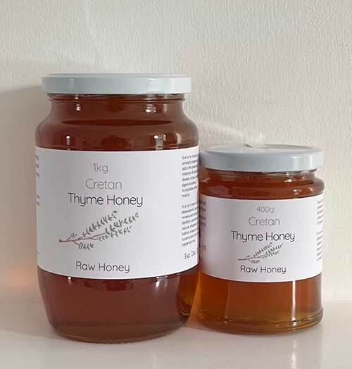 Raw wild Thyme Honey from Crete