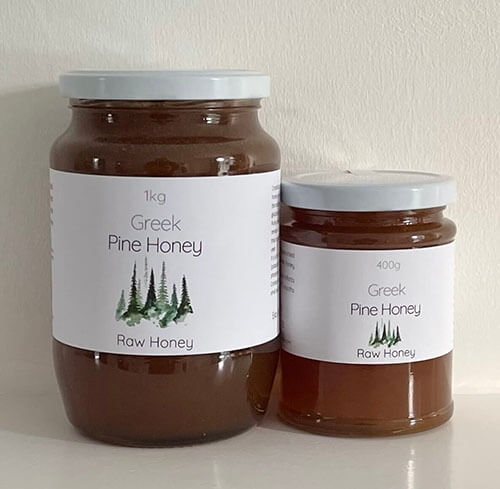 Raw Greek pine Honey