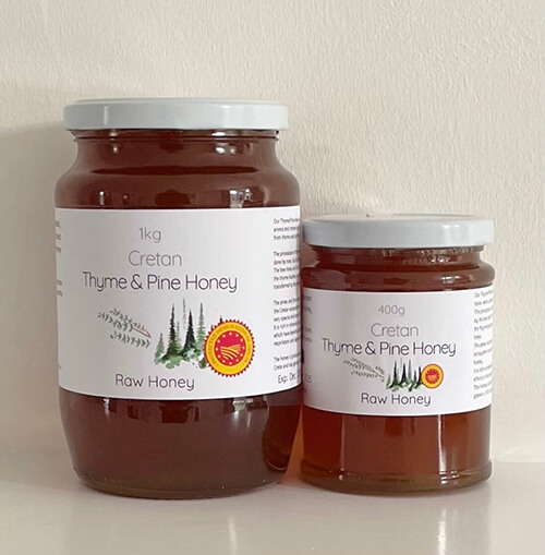 Raw Thyme & Pine Honey from Crete